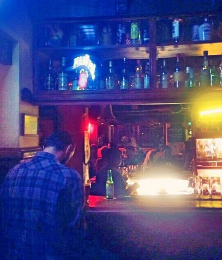 Heineken Illuminated Night Nightlife Bar - Drink Establishment Men Lifestyles Outdoors Happy Hour Boyfriend O'Malley's Pub