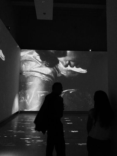 Monochrome Photography Indoors  Standing Men In Front Of City Life Scaladigrigi Blackandwhite Silence Italy Macro Indoors  Mostra Mostre Roma Caravaggio Caravaggioexperience Trip Trowback Exhibition Exhibit  Narciso