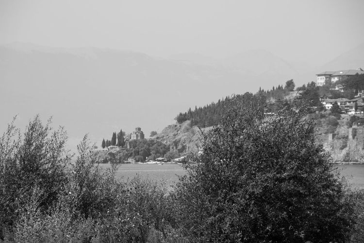 Travel Adventure Architecture Beauty In Nature Beauty In Nature Blackandwhite Building Exterior Clear Sky Day Growth Lake View Lakeshore Landscape Monochrome Mountain Nature Nature_collection No People Outdoors Scenics Sky Tranquility Tree