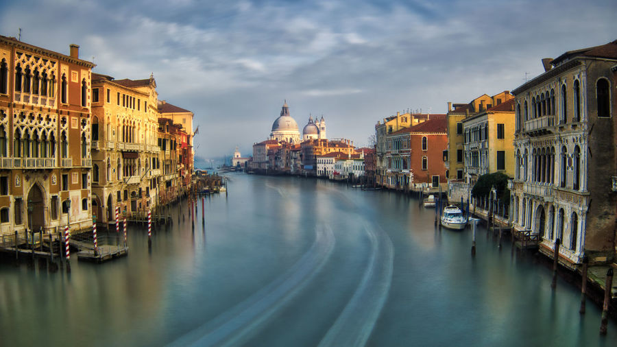 Canal view Venezia Venice, Italy Architecture Building Exterior Built Structure City Cloud - Sky Day Gondola - Traditional Boat Nautical Vessel No People Outdoors Place Of Worship Sky Spirituality Transportation Travel Destinations Venice Water Waterfront