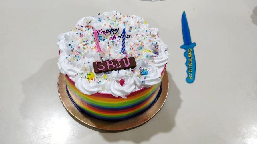 happy birthday! Birthday Cake Rainbow Cake