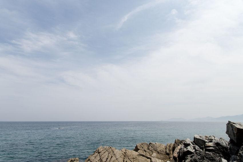 "famous seaside called ""Badabuchaegil"" at Jeongjdongjin in Gangreung, Gaongwondo, South Korea Badabuchaegil Gangreung Jeongdongjin Beauty In Nature Day Horizon Over Water Nature No People Outdoors Rock - Object Scenics Sea Seaside Sky Tranquil Scene Tranquility Water"