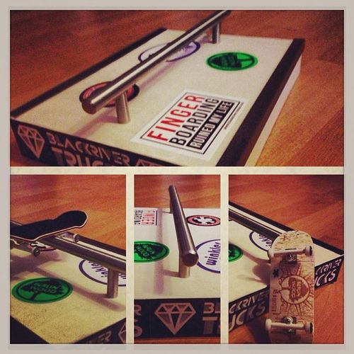 Its done 2 . Berlinwood Selfmade Homemade funbox rail curb ramp bwskyline blackrivertrucks blackriver winklerwheels wax glow signature fingerboard fingerboarding pornstorm