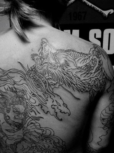 tattoo 青龍、不動明王、Line…