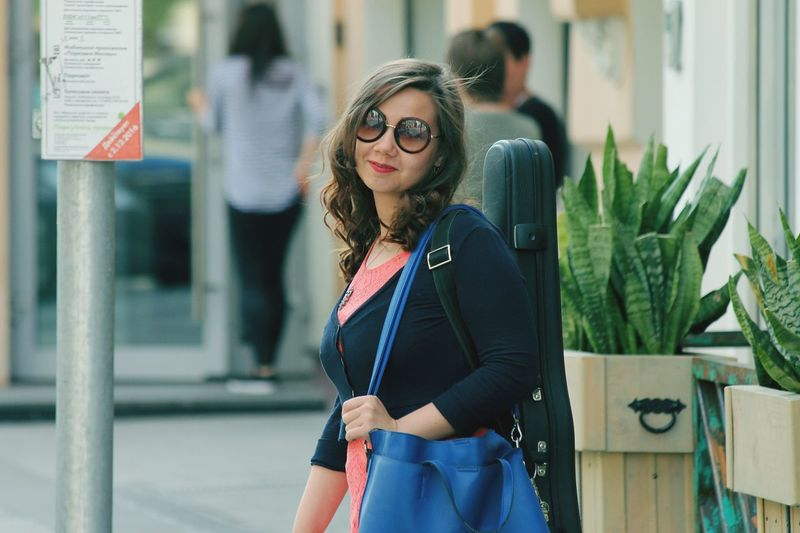 Eyeglasses  Front View One Person Portrait Working Violinist Moscow Business Finance And Industry Businesswoman One Woman Only Adults Only Business Adult Only Women People Young Adult One Young Woman Only Young Women Day Confidence  Women Occupation