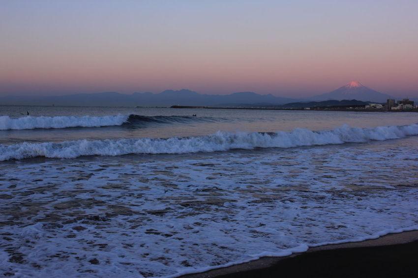 Beach Dawn Dawn Of A New Day Fujisan Morning Dawn Mtfuji Sea Seascape Wave