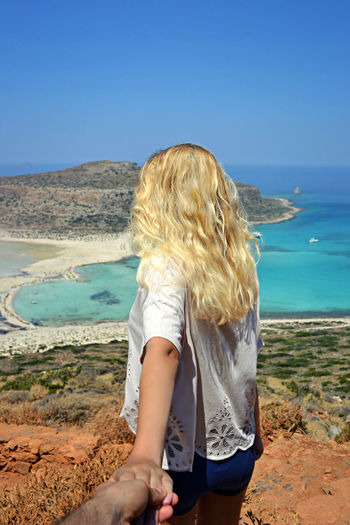 Follow me Balos Balos Lagoon Balos Beach Creta Crete Grecia Greece Beach Life Is A Beach Hands Blonde Landscape Panorama Nature Follow Follow Me To Summer Let Your Hair Down The Portraitist - 2016 EyeEm Awards The Essence Of Summer The Following Feel The Journey Colour Of Life People And Places Women Around The World Long Goodbye