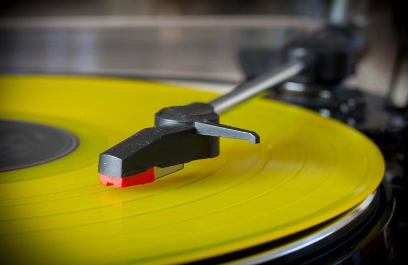 Yellow Color Vinyl Records Musique Tourne Disque Music Turntable Record Arts Culture And Entertainment Technology Gramophone Indoors