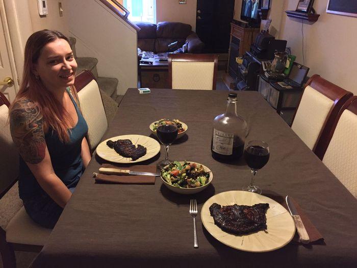 Dinner with Kyra GettingMyFeedOn MyExoticFriends
