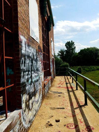 Old power plant near me. Built Structure Architecture Day No People BYOPaper! Enjoying Life Hello World Abandoned Abandoned Buildings Abandoned And Beautiful Eeyem Photography Old Old Buildings Dam Graffiti Rail Sky Outdoors Old Ruin Abandonedbuilding