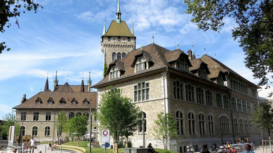 Landesmuseum Architecture Building Exterior Built Structure City Day Famous Place History Landesmuseum Zürich Outdoors Schweiz Switzerland Tourism Travel Destinations Zürich