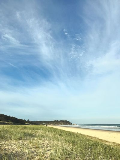 Scenics Nature Sky Tranquility Landscape Outdoors Grass Cloud - Sky Water Beauty In Nature Sea Ocean View Tranquil Scene North Stradbroke Island Straddie Point Lookout