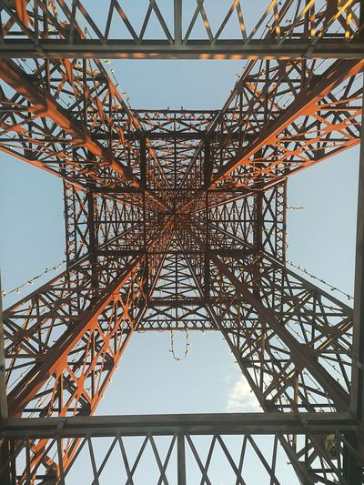 Golf Club Steel Metal Girder Business Finance And Industry Built Structure Architecture Grid Travel Destinations Construction Frame Bridge - Man Made Structure Symmetry Sky Cloud - Sky No People Complexity Electricity Pylon Outdoors Day