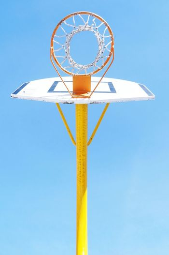 Basketball Blue Sky Urban Sports Colors Taking Photos Everyday Joy View From Below The Color Of Sport The Places I've Been Today Smart Simplicity Genuine Brazil Images Fresh On Market 2018