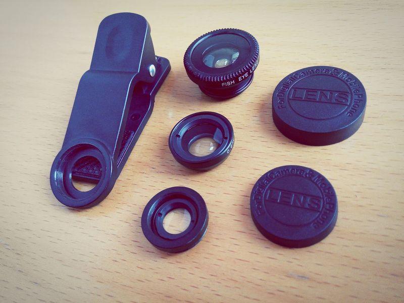 Six-piece lens set for mobile photography. 昨天剛買的手機鏡頭組,質感不錯。
