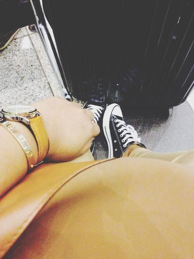 Off I go again✈️ Happiness Traveling Persian Iranian Love Hello World Converse Chucks Black
