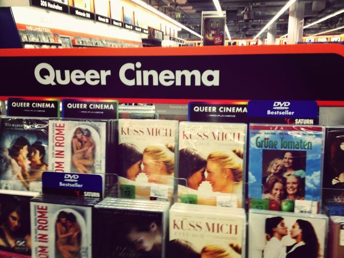 "Note ""Fried Green Tomatoes"" in the Queer Cinema section... Also, Saturn has a Queer Cinema section!"