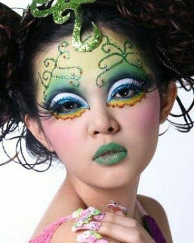 Theatrical Theatricalmakeup Makeup Greenmakeup Instapic Instagood Instagram Greenlips Greenlipstick
