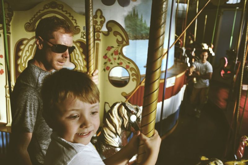 Fatherhood Moments Father And Son Daddys Boy Autism Autism Dad Merry Go Round Enjoying Life Fun Quality Time Boardwalk Summer Fun Dad And Me Nikon Rides Horse Golden Hour