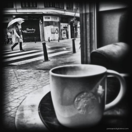 Rainy Day At Starbucks City