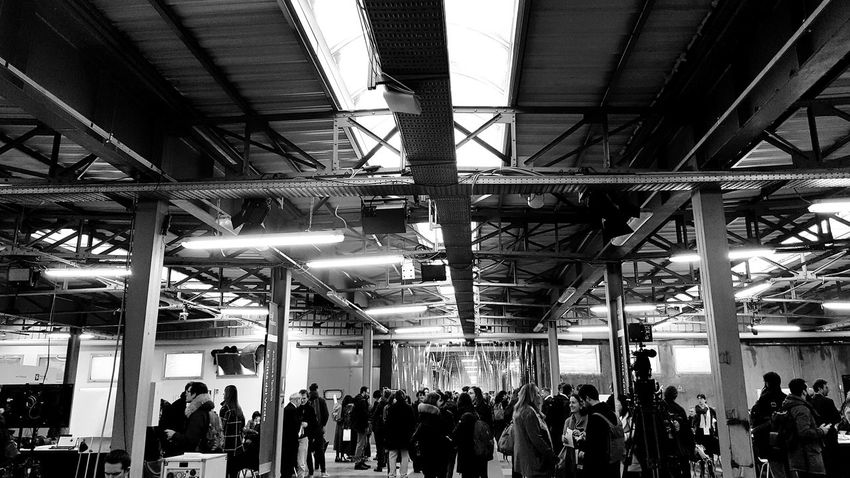 Large Group Of People Real People Indoors  Lifestyles Architecture Industrial Building  Industrial Architecture Workshop Adults Only Blackandwhite Black And White Black & White