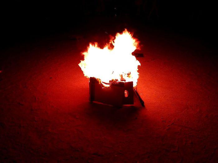 Burning Flame Red Outdoors Illuminated Fireball San Juan Summer Summertime Shortnight Longday Party