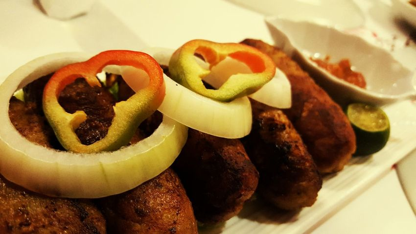 Aaaaah.. The Chicken Kebab the most delicious spicy chicken sausage i ever tasted and it works better with indian rotti soooo Gooood..!!! Food ChickenKebab SpiceN'Wok