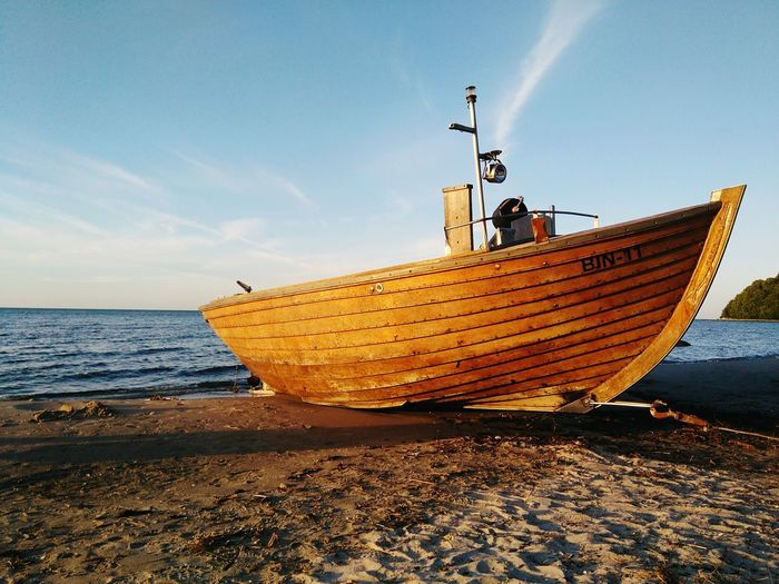 Beach Sand Sea Business Finance And Industry Nautical Vessel Outdoors Day Sky No People Horizon Over Water Nature Boats⛵️ Rügen Lovers Travel Destinations Ostsee