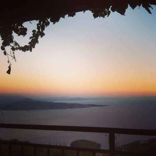 View from the restaurant table last night Corfu Sunset Silhouettes Sunset Sunset_collection