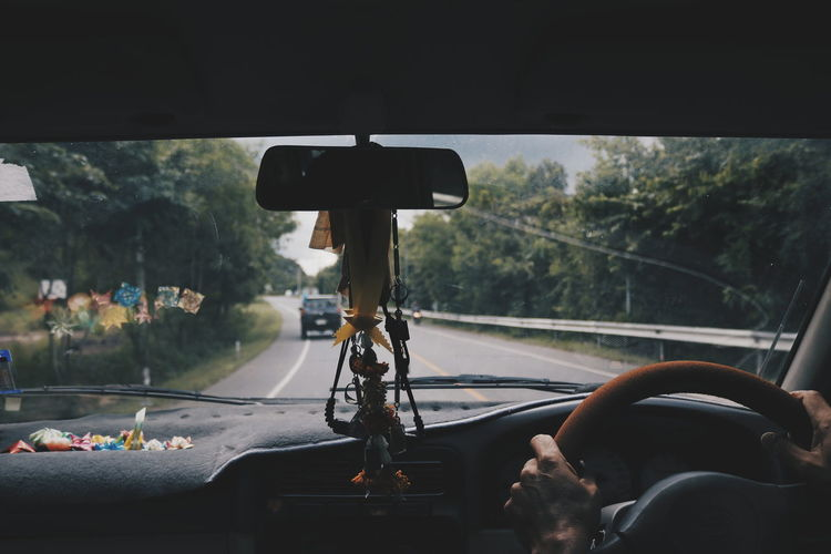 Water Close-up Car Interior Steering Wheel Car Point Of View Rainy Season Monsoon Windshield Side-view Mirror Rainfall Passenger Seat