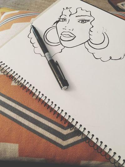 Portrait Afro Idraw Womanofsoul