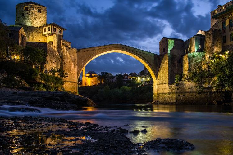 The iconic bridge in mostar.