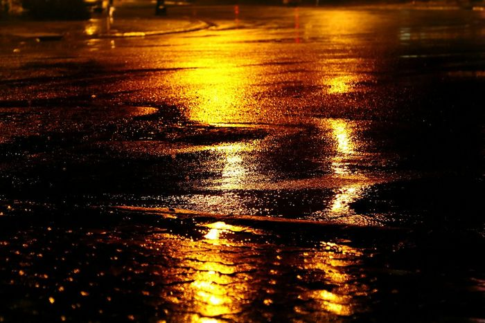 On The Streets Ontheroad Light And Shadow Popular Night Photography Creative Light And Shadow Darkness And Light Eyeemphotography Raining Outside Raining Days On The Road Roadtrip Walking Alone... Enders Light Painting