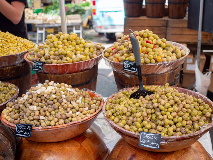 Food And Drink Food Arles France Provence Market Market Stall Farmer Market Farmers Market Healthy Eating Olive Outdoors Fruit Choice For Sale Abundance French Medditeranean Street Street Food