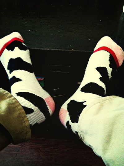 Always gotta wear cow socks