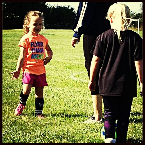 First ever soccer practice!!!!