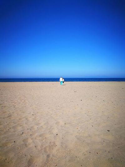 My Son P10 Plus Photography Clear Sky Full Length Sea Beach Sand Shadow Blue Sky Tranquil Scene Tranquility Coastline Shore