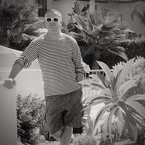 Posing Holiday Paphos Cyprus Rayban Sunglasses