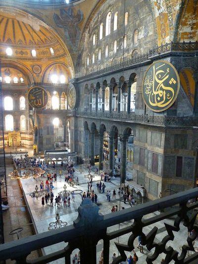 Inside Hagia Sofia Traveling Enjoying Life Relaxing