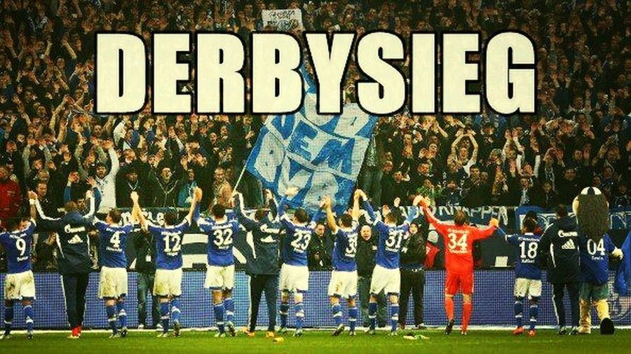 Fan Gelsenkirchen Schalke Derbysieger