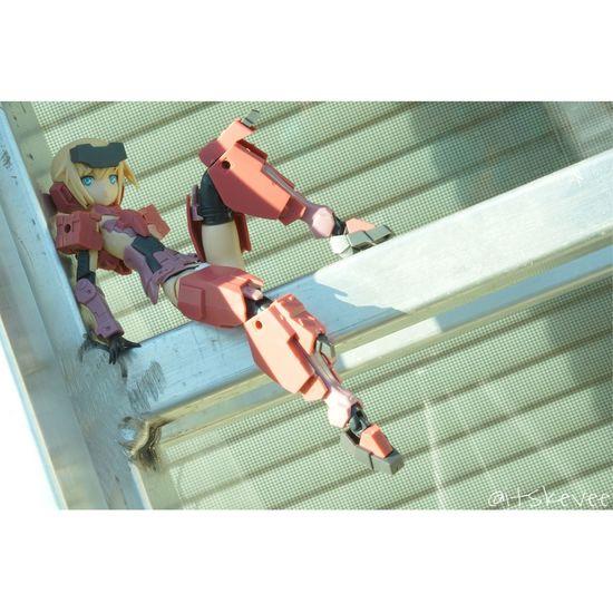 Full Length Sony A6000 Macro Outdoors Kotobukiya Robot Frame Arms Girl Jinrai Lying Down Sitting Leisure Activity One Person Day Anime Art The Still Life Photographer - 2018 EyeEm Awards