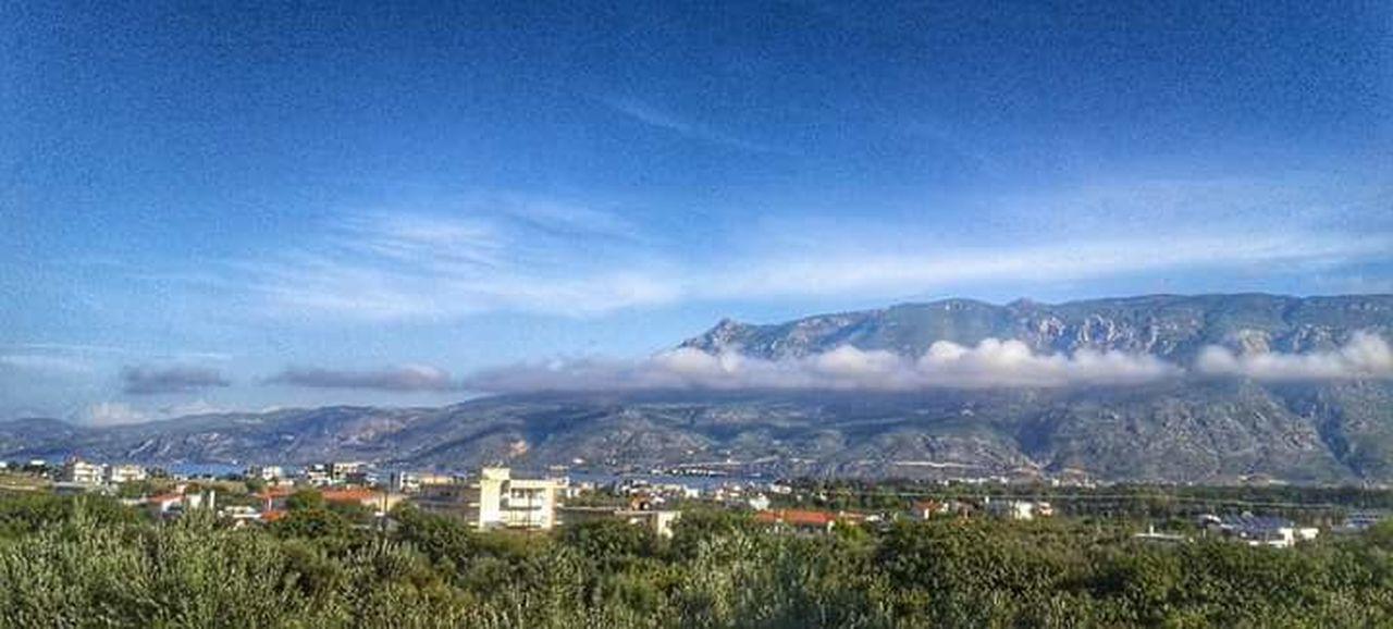 Sky Cloud - Sky Blue Mountain Mobile Photography Landscape_photography Greece Vscocam Corinth Greece