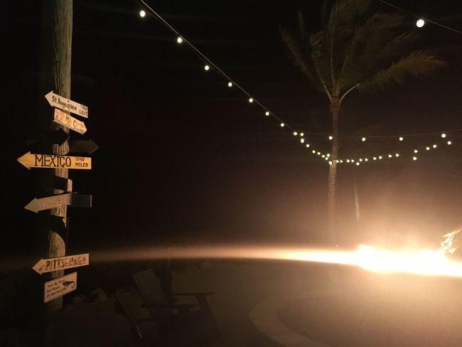 Hawks Cay Resort Illuminated Night No People Outdoors Water Sky