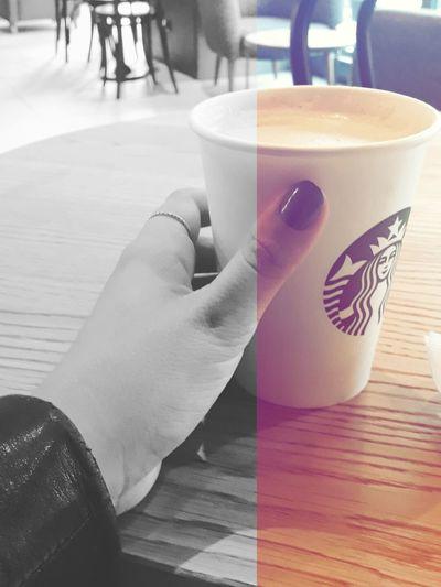 Starbacks Coffee Good Morning Coffee - Drink Blackandwhite Photography First Eyeem Photo The City Light