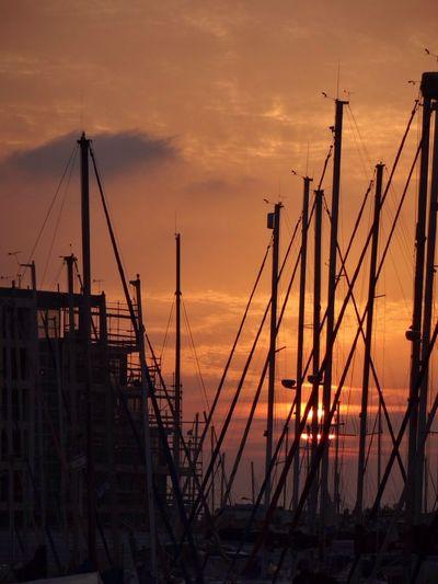 EyeEm Best Shots - No Edit IPSNoFilter Clouds And Sky EyeEm Best Shots - Sunsets + Sunrise Herzliya-Marina 43 Golden Moments Yacht Masts