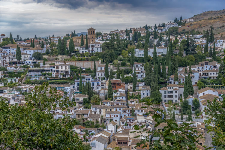 interior of Alhambra, Granada, Spain Alhambra Alhambra De Granada  Interior Spain Architecture SPAIN Arabic Style Architecture Building Exterior Built Structure Building City Residential District Cloud - Sky Nature Tree Sky Plant Town High Angle View No People Outdoors Cityscape Day House TOWNSCAPE