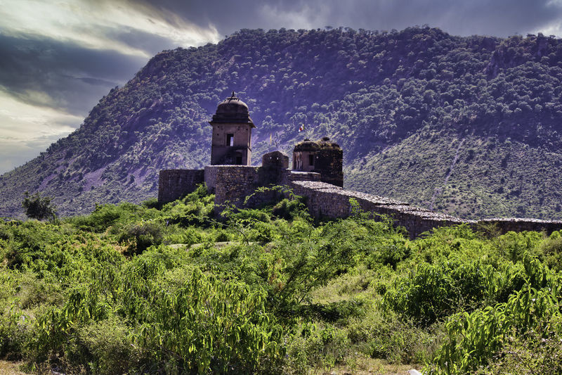 Historic building against sky in bhangarh rajasthan