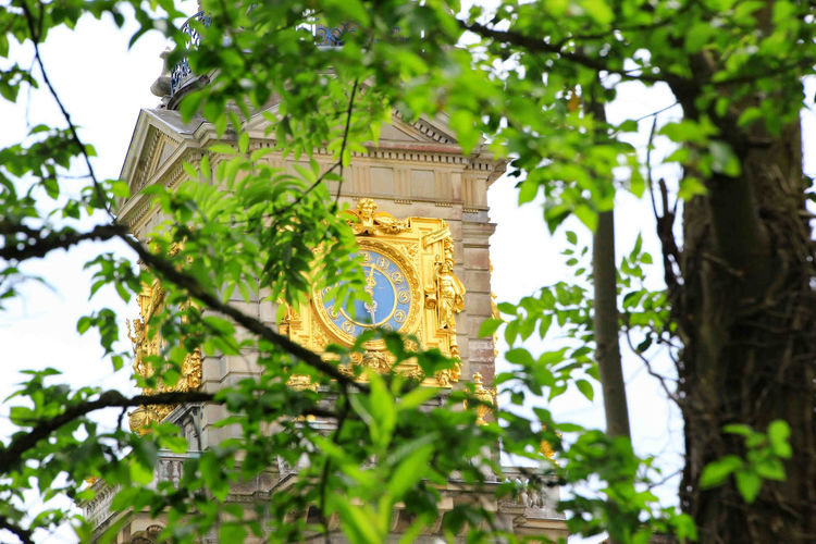 Beauitful Clock Clivedenhouse Clock Tower Focus On Foreground Gold Clock Selective Focus