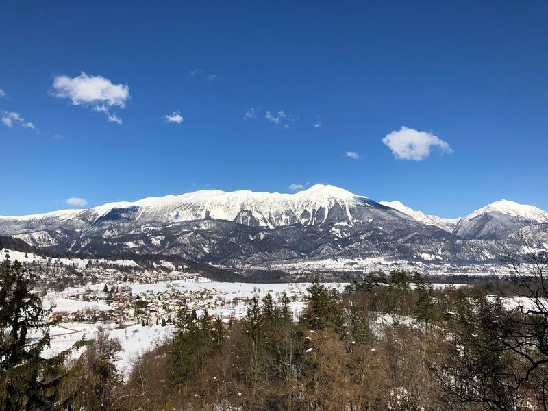 Slovenian Alps Slovenia Mountain Snow Beauty In Nature Nature Scenics Sky Snowcapped Mountain Mountain Range Tranquility Winter Tranquil Scene Outdoors Landscape Cold Temperature Day No People