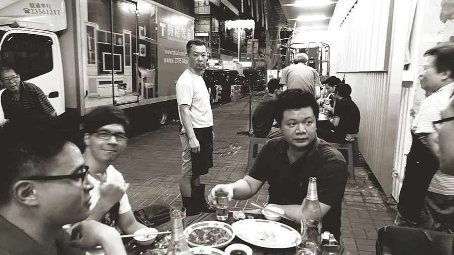 Deep in the city, feeling the true Hong Kong. City Street Enjoying Life